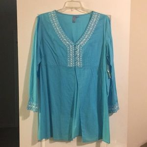 AZ Embroidered Tunic NWT